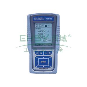 便携式多参数测量仪,防水型CyberScan PCD 650 pH/mV/离子/电导/TDS/电阻率/盐度/溶解氧 多参数仪表
