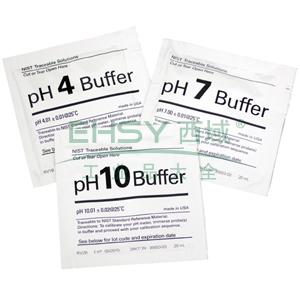 pH缓冲溶液,pH 去离子水清洗袋(NIST标准),20×20ml/盒
