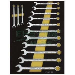史丹利工具托,14件套公制两用扳手工具托,LT-027-23