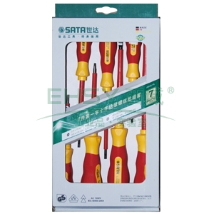 世达绝缘螺丝刀套装,7件套,09301A