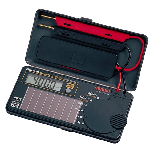 数字万用表,三和 PS8a 太阳能充电电池