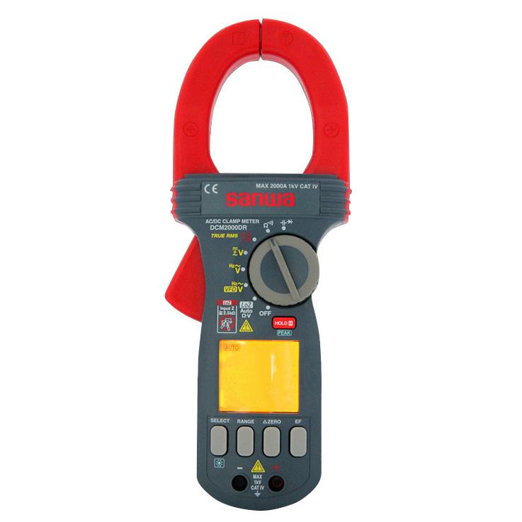 钳形表,日本三和 交直流数字钳形表 双重显示功能,DCM2000DR
