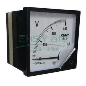 正泰 方型电压表,450V 直接接入 表盘尺寸:80mm,6L2-V 450V