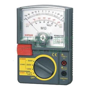 模拟兆欧表,日本三和 指针式绝缘电阻测试仪,PDM5219S