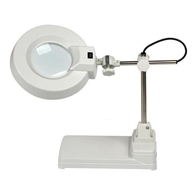 不锈钢管式台式放大镜,圆头,5x