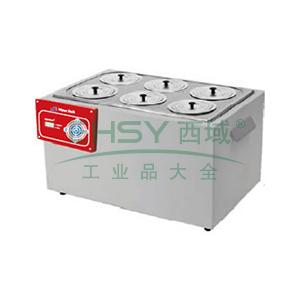 恒温水浴锅,容积:20L   新型加热管 温度均匀性±0.3℃  控温范围Rt+5℃~99℃,精骐,SYG-1230