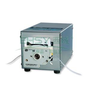 基本调速型蠕动泵,BT100S(不锈钢304机箱)泵头DG6-1(6滚轮),单通道流量(毫升/分钟)0.00016~49,通道数量1