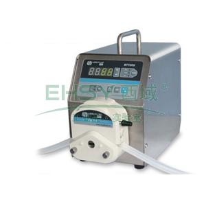 基本调速型蠕动泵,BT100S(不锈钢304机箱)泵头YZ15,单通道流量(毫升/分钟)0.006~575,通道数量1