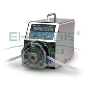 基本调速型蠕动泵,BT100S-1泵头DG6-16(6滚轮),单通道流量(毫升/分钟)0.00016~49,通道数量16