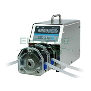 基本调速型蠕动泵,BT100S-1泵头2×YZ15,单通道流量(毫升/分钟)0.006~575,通道数量2