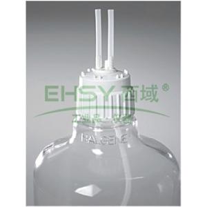 填充/通气盖,白色聚丙烯,TPE垫圈,TPE端口盖,NALGENE 50 白金硅胶胶管,瓶盖尺寸83B,胶管内径1/2英寸