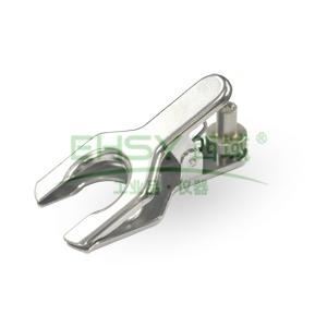 球型接口固定夹,镀铬超强型,夹面圆形直径19/9,带螺旋拧钉,不锈钢