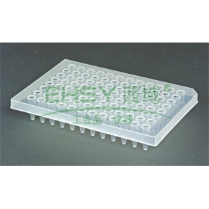 AXYGEN透明96孔PCR板(ABI专用),0.2ml,半裙边,10块/包