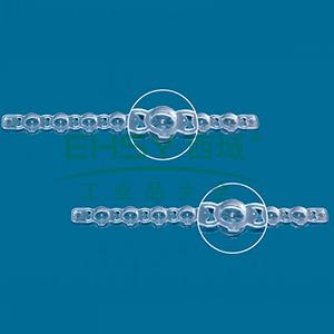 BRAND八联管管盖,突盖,PP材质,玫瑰红色,125个/包