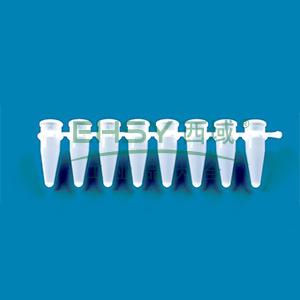 BRAND八联PCR管,PP材质,白色,0.2ml,单独购买八联管管盖,用于qPCR,125个/包