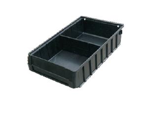 三威 防静电元件盒,400*235*90mm,分隔式,黑色