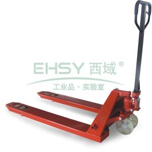 经济型手动液压搬运车,3T  685×1220mm 聚氨酯双轮/大轮 红色