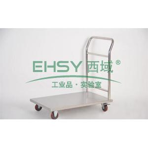 不锈钢单层手推车,单扶手 600*400*850mm