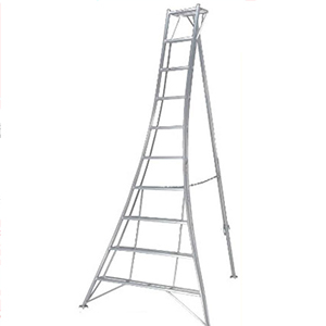 三脚梯子,园艺三脚 MAX 100kg 梯子垂高:4.35m 有效高:3.48m 升降面:1574mm 纵深:2591mm 重量:19.0kg
