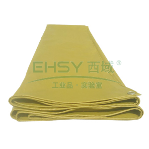 化纤布,上涂覆PVC材料防雨布, (土黄色,厚度:0.5mm )8m*6m