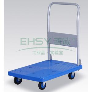 全静音单层固定式手扶手推车,铁支架轮,200KG