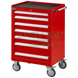 红色标准型工具车,H933ⅹW700ⅹD510,7个抽屉,每屉承重50KG