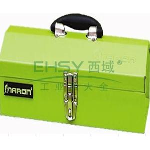 便携式钢制工具箱,绿色/红色随机