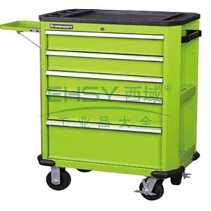 工业级组合工具车,5抽屉,绿色