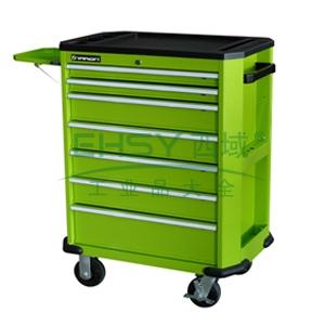 工业级组合工具车,7抽屉,绿色
