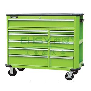 工业级组合工具车,11抽屉,绿色