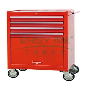 专业级组合工具车,4抽屉,红色