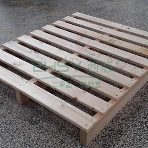 实木托盘(满板),尺寸(mm):1200×1000×144,板厚(mm):18,最大载重(kg):2400