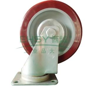 3.5寸聚氨酯中型脚轮,平底万向,载重(kg):115,轮宽(mm):32,全高(mm):120
