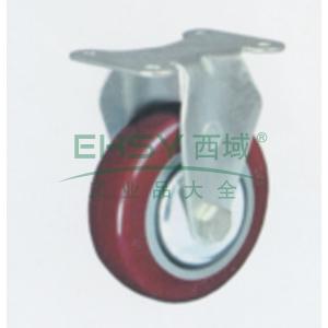 4寸聚氨酯中型脚轮,平底固定,载重(kg):135,轮宽(mm):32,全高(mm):135