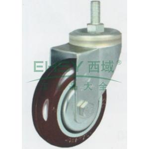 申牌 3寸尼龙中型脚轮,丝杆活动M12 载重(kg):105 轮宽(mm):30 全高(mm):111,20A04-1018