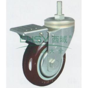 3寸尼龙中型脚轮,丝杆刹车M12,载重(kg):105,轮宽(mm):30,全高(mm):111