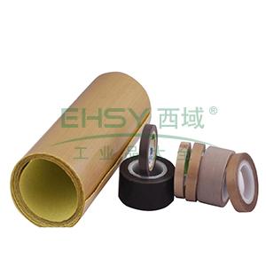 特氟龙PTFE玻璃纤维布耐高温胶带,黑色,0.18mm*50mm*10m