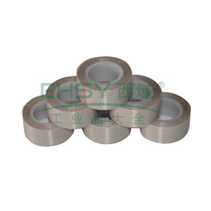 特氟龙PTFE玻璃纤维布耐高温胶带,咖啡色,0.3mm*50mm*10m