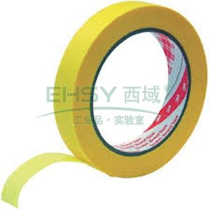 3M单面平板纸精细分界遮蔽胶带, 黄色 宽度38mm