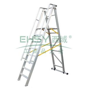 铝合金可折叠平台A型梯,平台高度:2m