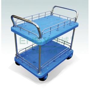 微静音双层双扶手带护栏手推车,轮子类型:铁支架轮,承重(kg):300KG