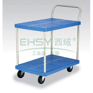 微静音双层单扶手车板式手推车,轮子类型:铁支架轮,承重(kg):150KG