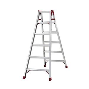 专业两用梯,(人字梯兼用直梯)(双侧宽幅踏步60mm)梯全长:2.98m 缩长:1.40m 重量:6.8kg
