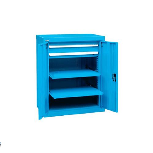 带门工具柜, 723W*600D*1000H 2层层板2个抽屉