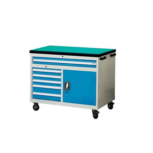 30mm绿色复合桌面工具车, 1150W*600D*880H 6个抽屉