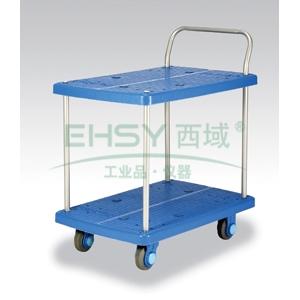 全静音双层单扶手车板式手推车,轮子类型:静音轮,承重(kg):150KG