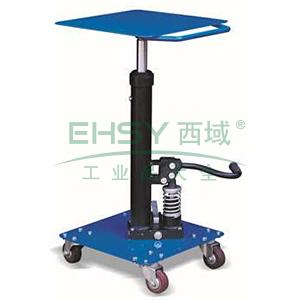 工位平台车载重90kg,台面尺寸:410*410mm,台面高度:740-1170mm