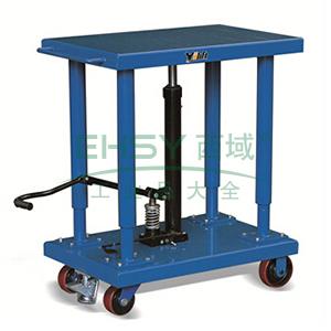 工位平台车载重900kg,台面尺寸610*915mm,台面高度940-1500mm