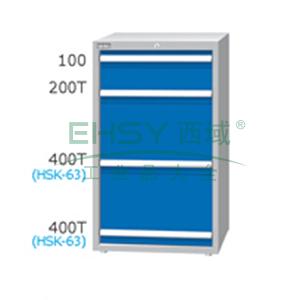 刀具柜,高H*宽W*深D:1200*566*607,单轨抽屉荷重(kg):100,复轨抽屉荷重(kg):200,EA-12042-88N