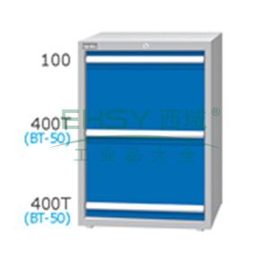 刀具柜,高H*宽W*深D:1000*718*759,单轨抽屉荷重(kg):80,复轨抽屉荷重(kg):180,ED-10032-33N